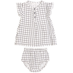 Petit Lem Petit Lem - Dress Set, Window Pane