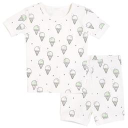 Petit Lem Petit Lem - Pyjama Set with Knitted T-Shirt and Short, Gelato