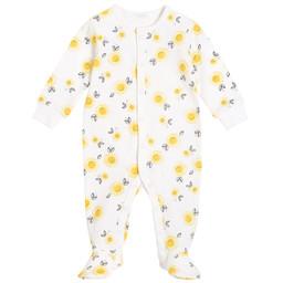 Petit Lem Petit Lem - Pyjama à Pattes en Tricot, Tournesols