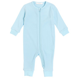 Petit Lem Petit Lem - Knitted Romper, Light Blue