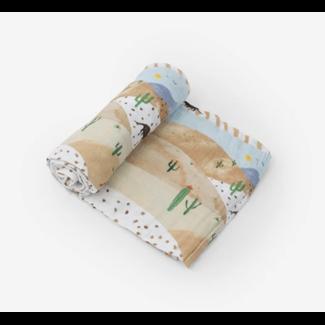 Little Unicorn Little Unicorn - Single Cotton Muslin Blanket, Desert Hills