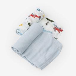 Little Unicorn Little Unicorn - 2 Pack Deluxe Muslin Blanket, Airshow