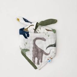 Little Unicorn Little Unicorn - Bavoir Réversible en Mousseline de Coton, Amis Dino
