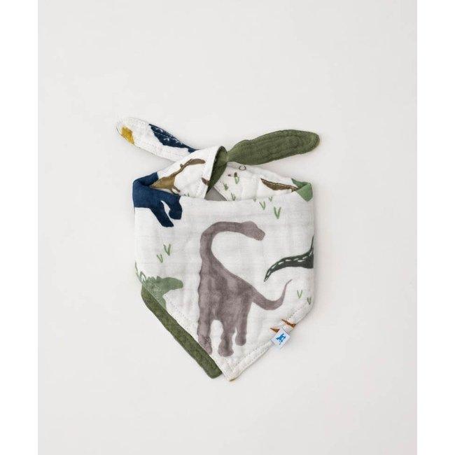 Little Unicorn Little Unicorn - Cotton Muslin Reversible Bandana Bib, Dino Friends