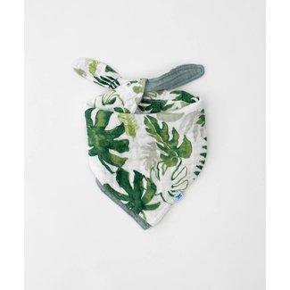 Little Unicorn Little Unicorn - Cotton Muslin Reversible Bandana Bib, Tropical Leaf
