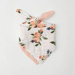 Little Unicorn Little Unicorn - Cotton Muslin Reversible Bandana Bib, Watercolor Rose