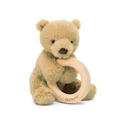 Jellycat Jellycat - Wooden Ring Rattle, Bear