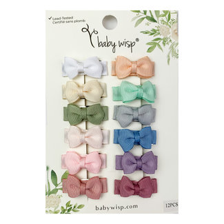 Baby Wisp Baby Wisp - 12 Pack Snap Clips, Ultimate Baby Bow Gift Set