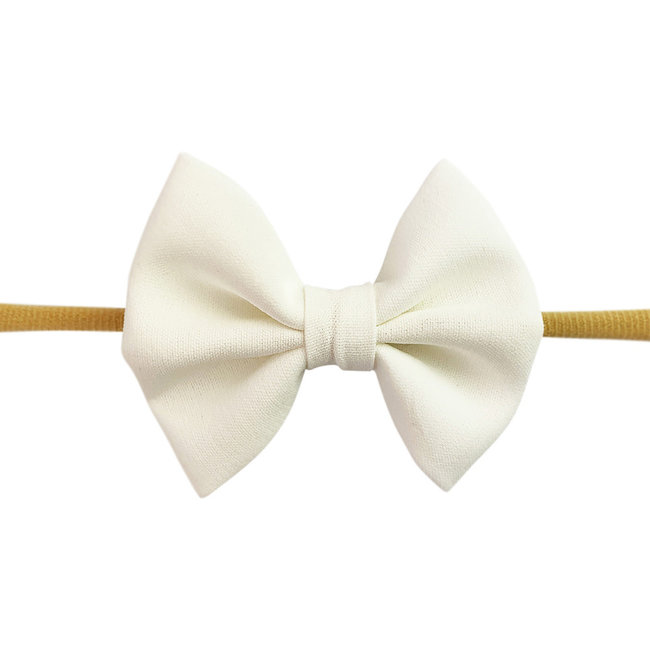 Baby Wisp Baby Wisp - Fanny Bow Headband, White