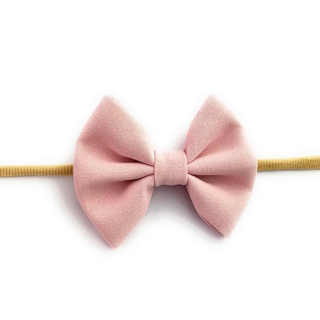 Baby Wisp Baby Wisp - Fanny Bow Headband, Powder Pink