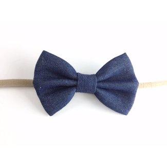 Baby Wisp Baby Wisp - Denim Bow Headband