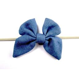 Baby Wisp Baby Wisp - Denim Butterfly Headband