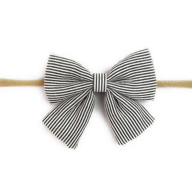 Baby Wisp Baby Wisp - Bow Headband, Black and White Stripe