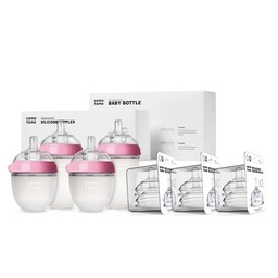 Como Tomo Como Tomo - Baby Bottle and Replacement Nipples Bundle, Pink