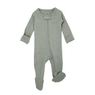 L'ovedbaby L'ovedbaby - Pyjama à Pattes en Coton Biologique avec Glissière Bidirectionnelle, Vert Pâle