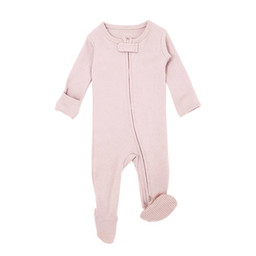L'ovedbaby L'ovedbaby - Organic Reverse Zipper Footed Overall, Blush