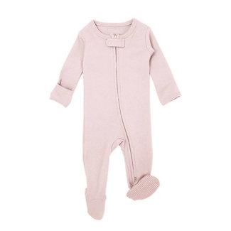 L'ovedbaby L'ovedbaby - Pyjama à Pattes en Coton Biologique avec Glissière Bidirectionnelle, Blush