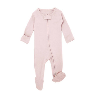 L'ovedbaby - Organic Reverse Zipper Footed Overall, Blush