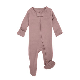 L'ovedbaby L'ovedbaby - Pyjama à Pattes en Coton Biologique avec Glissière Bidirectionnelle, Rose Mauve