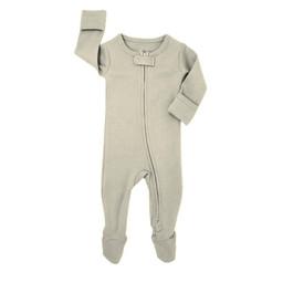 L'ovedbaby L'ovedbaby - Pyjama à Pattes en Coton Biologique avec Glissière Bidirectionnelle, Gris Pâle