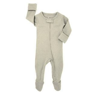 L'ovedbaby - Organic Reverse Zipper Footed Overall, Stone