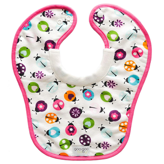 Goo Goo Baby Goo Goo Baby - Miracle Milk Bib, Love the Ladybugs