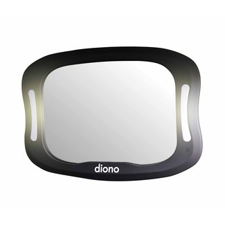 Diono Diono - Easy View XXL Mirror with LED Lights, Black