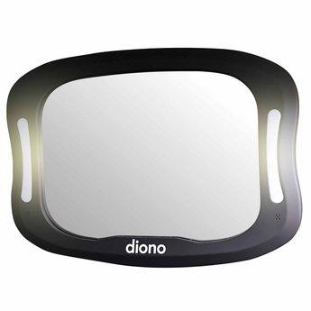 Diono Diono - Miroir Easy View XXL avec Lumière LED, Noir