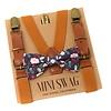 Mini Swag Mini Swag - Ensemble Bretelles et Noeud Papillon, Floral Camel