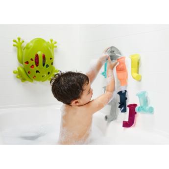 Boon Boon - Tubes Building Bath Toy, Blue Multi