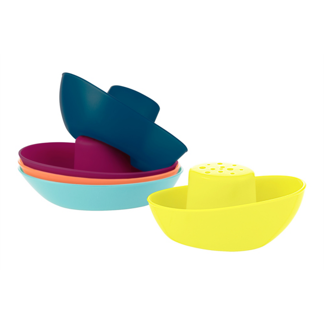 Boon Boon - Fleet Stacking Boats Bath Toys, Blue Multi