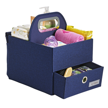 JJ Cole JJ Cole - Diapers and Wipes Caddy, Heather Greige