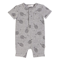 Miles Baby Miles Baby - Knitted Romper, Medium Heather Grey
