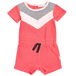 Miles Baby Miles Baby - Knitted Romper, Coral
