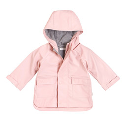 Miles Baby Miles Baby - Hooded Raincoat, Light Pink