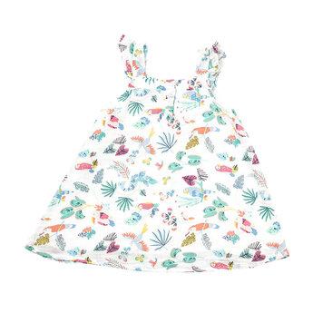 Angel Dear Angel Dear - Sundress and Diaper Cover, Jungle Birds
