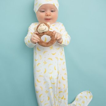 Angel Dear Angel Dear - Knotted Gown, Bananas