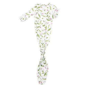 Angel Dear Angel Dear - Knotted Gown, Sweet Peas
