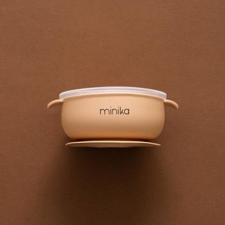 Minika Minika - Silicone Bowl and Transparent Lid, Natural