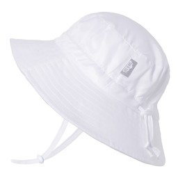 Jan & Jul Jan & Jul - Grow With Me Aqua Dry Bucket Sun Hat, White
