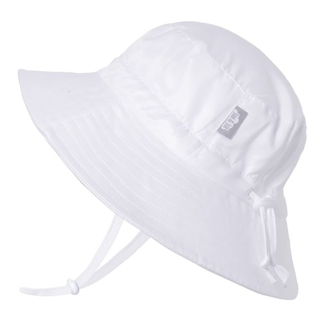 Jan & Jul Jan & Jul - Grow With Me Aqua Dry Bucket Sun Hat, White