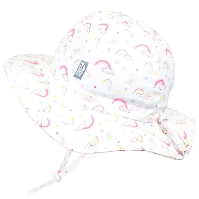 Jan & Jul Jan & Jul - Grow With Me Cotton Sun Hat, Rainbows