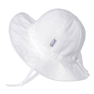 Jan & Jul Jan & Jul - Grow With Me Cotton Sun Hat, White Daisy