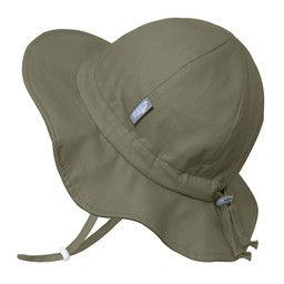Jan & Jul Jan & Jul - Grow With Me Cotton Sun Hat, Army Green