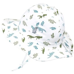 Jan & Jul Jan & Jul - Grow With Me Cotton Sun Hat, Dino