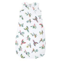 Perlimpinpin Perlimpinpin - Cotton Muslin Sleep Bag, Parrots