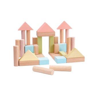 Plan toys Plan Toys - Ensemble de Construction 40 Morceaux, Pastel