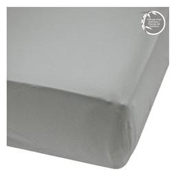 Perlimpinpin Perlimpinpin - Bamboo Fitted Crib Sheet, Pebble Grey