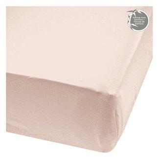 Perlimpinpin Perlimpinpin - Bamboo Fitted Crib Sheet, Dusty Rose