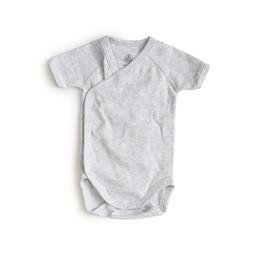 Petit Bateau Petit Bateau - Short Sleeves Romper, Grey